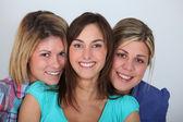 Closeup of 3 young women — Stock Photo