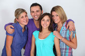 Portrait of groups of friends — Stock Photo
