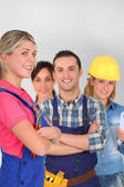 молодых людей на бизнес обучение — Стоковое фото