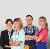 Group of young professional — Stock Photo