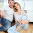 Closeup of happy couple at home — Stock Photo #18249951