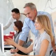 Group of in business training — Stock Photo