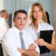 Manager and saleswoman meeting in the office — Stock Photo