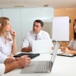 Business meeting around table — Stock Photo