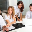 Business-Meeting um den Tisch — Stockfoto