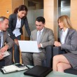 Group of associates meeting in lounge — Stock Photo #18251603