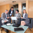 Group of associates meeting in lounge — Stock Photo #18251605