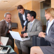 Group of associates meeting in lounge — Stock Photo #18251619