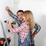 Couple renovation their home — Stock Photo #18252261