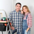 Stock Photo: Couple renovation their home