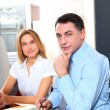 Royalty-Free Stock Photo: Manager and employee in front of computer in the office