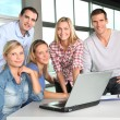 Stock Photo: Group of working in the office