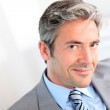 Portrait of handsome smiling businessman — Stock Photo