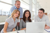 Group of business in a work meeting — Stock Photo