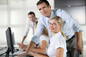 Business working on computer — Stock Photo