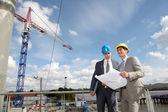 Site controle de empresário em construção — Foto Stock