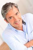 Portret van knappe 40-jaar-oude man — Stockfoto