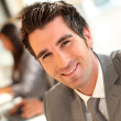 Portrait of smiling businessman — Stock Photo