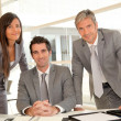Sales team having business presentation in office — Stock Photo #18260351