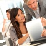 Företagspresentation på elektroniska tablett — Stockfoto