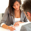 Business partners signing contract — Stock Photo #18260537