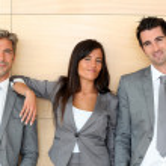 Business Team stehen in Halle — Stockfoto