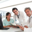 Medical meeting in hospital office — Stockfoto