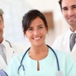 Portrait of smiling medical team — Stock Photo