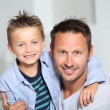 closeup of father and son at home — Stock Photo #18262395