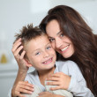 Mother and son having fun at home — Stock Photo #18262733