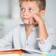 Little boy doing his homework — Stock Photo #18262963