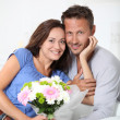 Happy in loved couple on valentine's day — Stock Photo #18263439