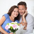Stock Photo: Happy in loved couple on valentine's day