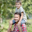 Closeup of happy father and son — Stock Photo