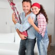 Stock Photo: Couple moving in their new house