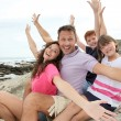 Royalty-Free Stock Photo: Happy family on summer holidays