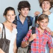 Group of high-school students — Foto Stock