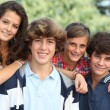 Group of teens after school — Stock Photo
