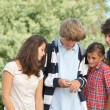 Group of teens after school — Stock Photo #18268533