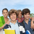 Group of teens after school — Stock Photo #18268559