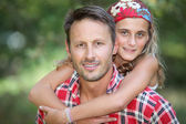 Father and daughter complicity — Stock Photo