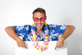Man with hawaiian shirt — Stock Photo