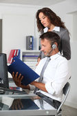 Business working in the office — Stock Photo
