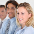 Stock Photo: Portrait of smiling business team