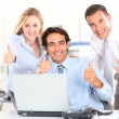 Cheerful business team in meeting — Stock Photo #18272175