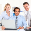 Cheerful business team in meeting — Stock Photo #18272185