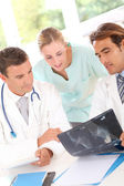 Medical in work meeting — Stock Photo