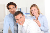 Portrait of smiling business team — Stock Photo