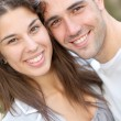 Young lovin couple in town — Stock Photo