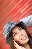 Portrait of trendy girl — Stock Photo